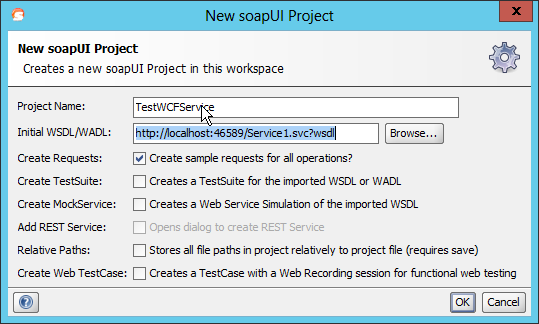 Test a WCF service with SOAPUI - bjdejong BLOG